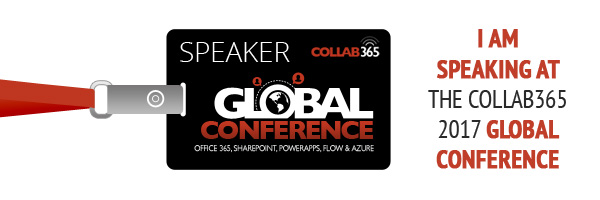 Speaking at Collab365 Global Conference in November